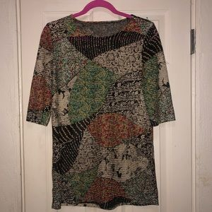 Tops - Multi-Patterned Tunic Top